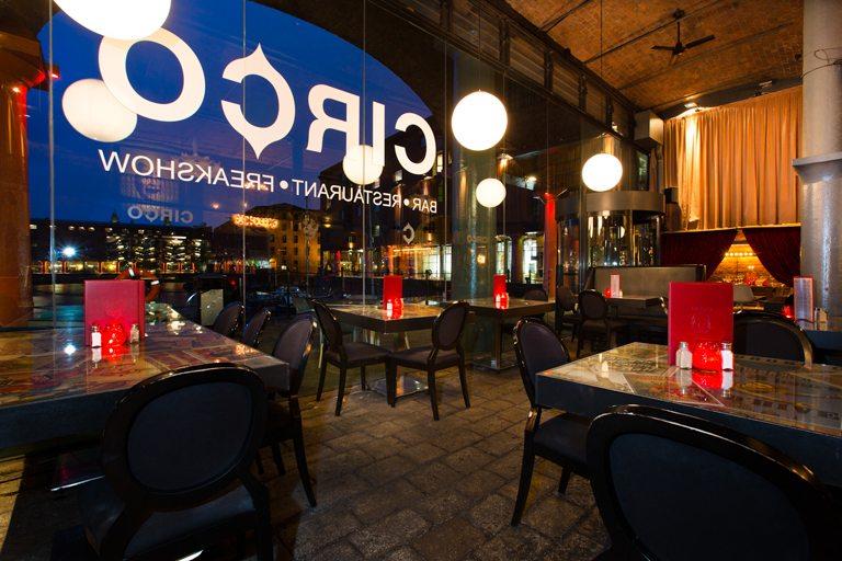 Circo Bar and Restaurant - Albert Dock - Liverpool - Restaurant Dining Room